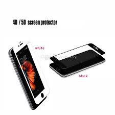 3d 4d 5d hd tempered glass full cover screen protector for iphone 6 6s 7 7s plus iphone 8 x toughened glass screen protector cell phone protector from