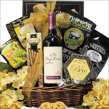 little black dress divalicious birthday red or white wine gift basket