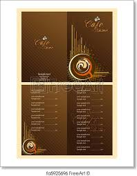 Free Art Print Of Cafe Menu Card Template Illustration Of Set Of