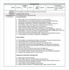 Meeting Recap Template Sample Meeting Summary Template 11 Free Documents In Pdf