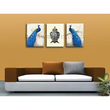 Paintings For Living Room Wall Large Giclee Print On Canvas Peacock Abstract Wall Art Living Room
