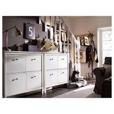white shoe cabinet furniture. IKEA HEMNES Shoe Cabinet With 4 Compartments White Furniture