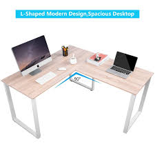 corner desk home office furniture. Merax L-Shaped Office Workstation Computer Desk Corner Home Wood Laptop Table Study Furniture