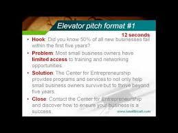 30 Sec Elevator Speech 30 Second Elevator Pitch Speech Youtube