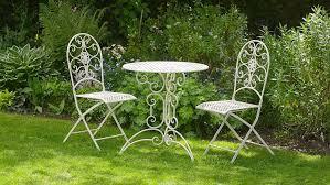 White metal patio chairs Plastic Antique White Metal Piece Bistro Style Garden Patio Furniture Set Lucia Amazoncouk Garden Outdoors Pinterest Antique White Metal Piece Bistro Style Garden Patio Furniture Set
