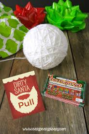 dirty santa lottery tickets the perfect gift easy peasy pleasy pull the string to the perfect gift check out these dirty santa gift ideas