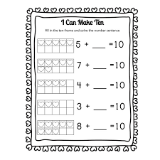 I *heart* Math: Making 10 Heart Themed Addition Worksheets and ...