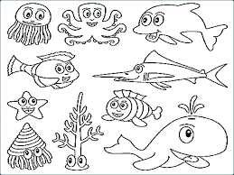 Ocean Coloring Pages For Preschool Ocean Coloring Pages For Kids