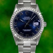 rolex mens diamond datejust blue r dial stainless steel oyster rolex mens diamond datejust blue r dial stainless steel oyster watch