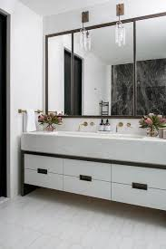 Modern bathroom mirrors Oval Bathroom Large Mirror The Spruce 13 Beautiful Bathrooms With Large Mirrors