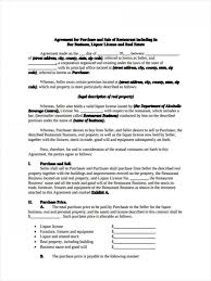 Sample Business Purchase Agreement Free Sale Small Buy Sell 840X1120 ...