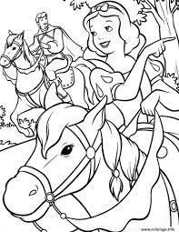 Coloriage Princesse Blanche Neige Avec Son Prince Amoureux Dessin