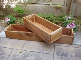 Wooden Planter Box Country Wood Planter Box 48 Inch L Cedar