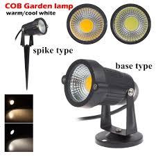 Us 4 86 37 Off New Style Cob Garden Lawn Lamp Light 220v 110v 12v Outdoor Led Spike Light 3w 5w 7w 9w Path Landscape Waterproof Spot Bulbs In Led