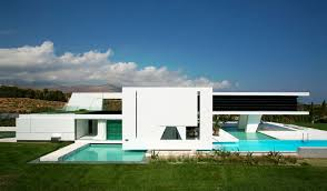 ultra modern architecture. Exellent Modern Right Facade Of An Impressive Ultra Modern House In Athens Throughout Architecture