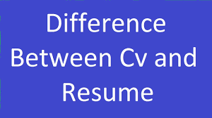 Difference Between Cv Resume Youtube