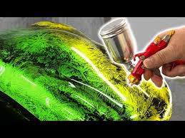 How to custom paint a motorcycle / How to paint <b>candy color</b> ...