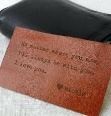 custom leather wallet insert card personalized anniversary gift gifts for wife ideas wedding ideas leather anniversary gifts