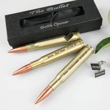 engraved bullet bottle opener