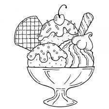 ice cream sundae coloring page yummy ice cream sundae coloring pages for kids ginormasource kids