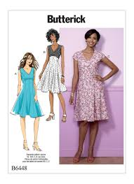 Fit And Flare Dress Pattern Unique Butterick 48 Misses' FitandFlare EmpireWaist Dresses
