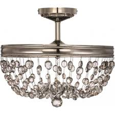 malia semi flush fitting chandelier style light for low ceilings