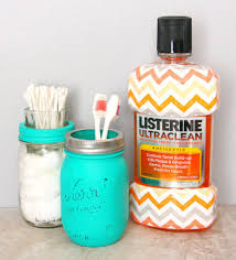Mason Jar Bathroom Accessories Painted Mason Jar Bathroom Set
