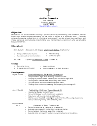 Bartender Resume Skills Art Resumes Job Description For On Image
