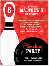 Bowling Party Invitation Bowling Party Numbered Paprika Invitations Myexpression 22857