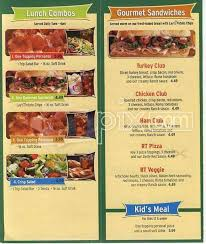 menu of round table pizza highland ca