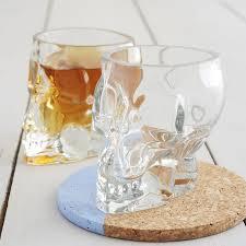 tiki skull shot glass glassware