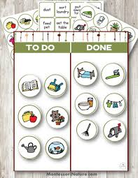 Daily Editable Practical Life Chore Chart Chore Chart For