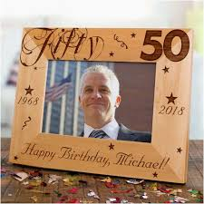 personalised 50th birthday gifts luxury engraved 50th birthday picture frame