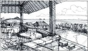 rough architectural sketches. Wonderful Rough Using Sketches To Design A Costa Rican Resort  Jim Leggitt  Drawing  Shortcuts Throughout Rough Architectural