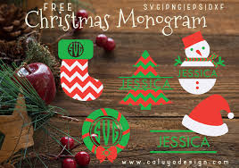 Christmas Monogram Free Svg Png Dxf Eps Download