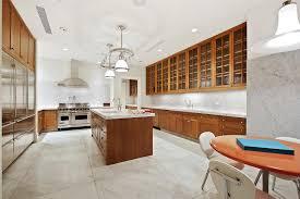 Luxury Kitchen Flooring Marble Flooring Tile In Modern Kitchen Design With Pendant Lamp