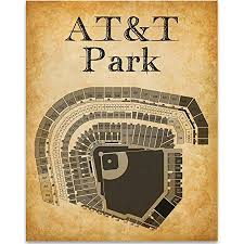At T Park Stadium Baseball Seating Chart Art Print 11x14 Unframed Art Print Great Sports Bar Decor And Gift For Baseball Fans