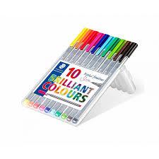 Staedtler Triplus Color Chart Staedtler Triplus Fineliner Pen Pack Of 10