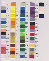 Simthread Colours In 61 Brother Colors Actual Thread Charts