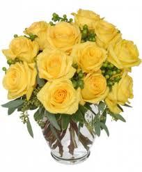 good morning sunshine roses arrangement