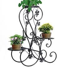 Flower Display Stand For Sale ZHCH 100tier Metal Elegant Classical Design Plant Stand With 100 11