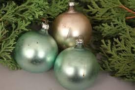 Christbaumschmuck Weihnachtskugeln Klein 3 Stück Glas Grün