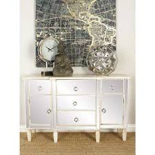 office in the home. 48 In. X 30 Rectangular White Wood And Mirrored Cabinet With Storage Office In The Home