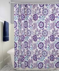 purple and blue shower curtains. Fine Curtains Purple U0026 Blue Luna Floral Shower Curtain With And Curtains W