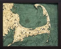 Cape Cod Wood Chart Amazon Com Cape Cod Massachusetts 3 D Nautical Wood Chart