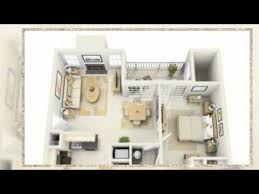 1 Bedroom Apartment Floor Plans 3d YouTube Prepossessing