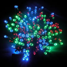 ALEKO | 50 LED Solar Powered Christmas String Lights, Multicolor