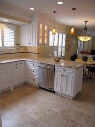 Brilliant White Tile Flooring Kitchen Option With Small Offset Tiles Love The Colors Inside Design Ideas
