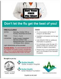 Amadorhealth Com Sutter Amador Hospital To Provide Free Flu