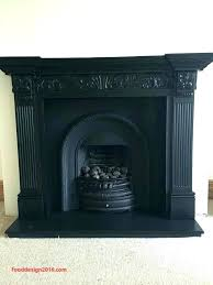 metal fireplace insert paint cast iron can i surround